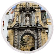 Saint Paul Church In Cordoba Round Beach Towel
