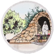 Saint Rosa Round Beach Towel
