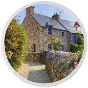 Saint-suliac - Brittany Round Beach Towel
