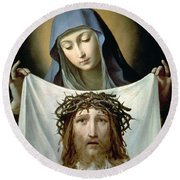 Saint Veronica Round Beach Towel by Guido Reni