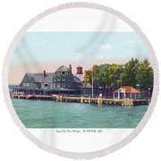 Sainte Claire Flats - Michigan - The Old Club - 1920 Round Beach Towel