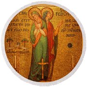 Saints Perpetua And Felicitas Altar Round Beach Towel