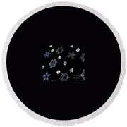 Saks 5th Avenue Snowflakes Round Beach Towel
