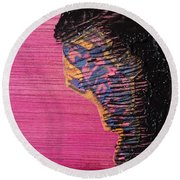 Collage Nr. 10 Salamander Round Beach Towel