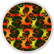 Salamanders Dream Round Beach Towel