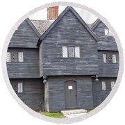 Salem Witch House Round Beach Towel