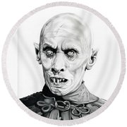 Salem's Lot Round Beach Towel by Fred Larucci