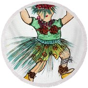 Sales Fairy Dancer 2 Round Beach Towel