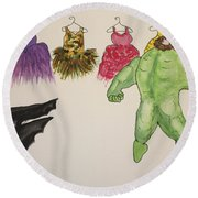 Sales Fairy Dancer 6 Round Beach Towel