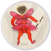 Sales Fairy Dancer 1 Round Beach Towel