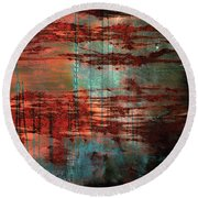 Salivated Flame  Round Beach Towel