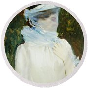 Sally Fairchild Round Beach Towel by John Singer Sargent