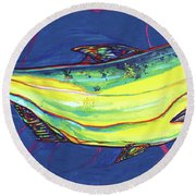 Salmon Of Knowledge Round Beach Towel