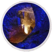 Salt Cathedral- Colombia Round Beach Towel
