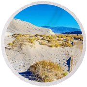 Salt Creek Boardwalk Trail In Death Valley National Park-california  Round Beach Towel