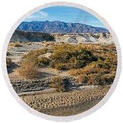 Salt Creek Death Valley National Park Round Beach Towel