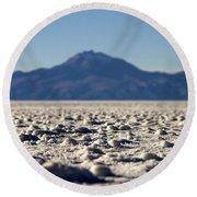 Salt Flat Surface Round Beach Towel