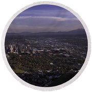 Salt Lake Valley Round Beach Towel