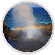 Salt Spray Rainbow Round Beach Towel