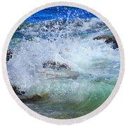 Salt Water Serenade Round Beach Towel