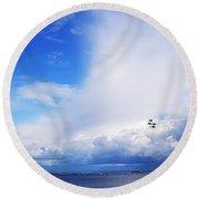 Salthill Air Show Round Beach Towel