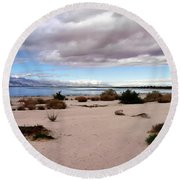 Salton Sea California Round Beach Towel
