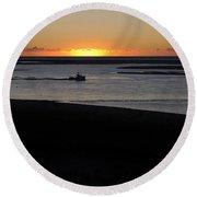 Salty Sunrise Round Beach Towel