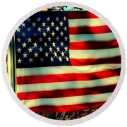 Salute For The Valiant Round Beach Towel