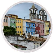 Salvador Brazil The Magic Of Color Round Beach Towel