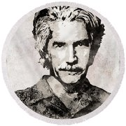 Sam Elliott 3 Round Beach Towel
