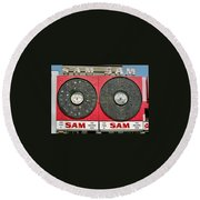 Sam The Record Man Round Beach Towel