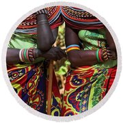 Samburu Women Dancing Kenya Round Beach Towel