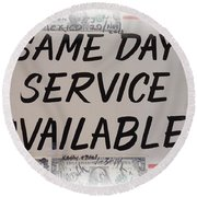 Same Day Service Available Round Beach Towel