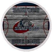 Samford Bulldogs Round Beach Towel