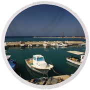 Sami Harbour Kefalonia Round Beach Towel
