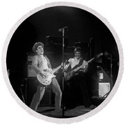 Sammy And Bill On Stage In Spokane In 1977 Round Beach Towel