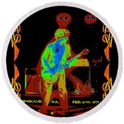 Sammy And Special Guests 1977 Round Beach Towel