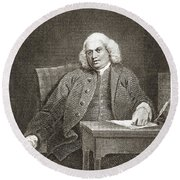 Samuel Johnson, English Author Round Beach Towel