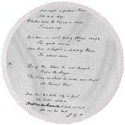 Samuel Taylor Coleridge (1772-1834) Round Beach Towel
