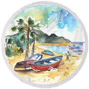San Andres 01 Round Beach Towel