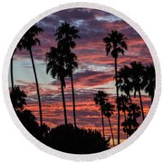 San Clemente Sunset Round Beach Towel