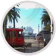 San Diego Transportation Round Beach Towel