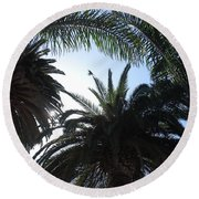 San Diego Breeze Round Beach Towel