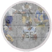 San Diego Chargers Legends Round Beach Towel