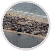 San Diego Coast Aeriol 3 Round Beach Towel