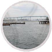 San Diego Coronado Bridge 5d24351 Round Beach Towel