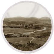 San Diego Mission In Mission Valley California Circa 1909 Round Beach Towel