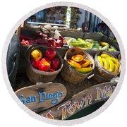 San Diego Old Town Market Round Beach Towel