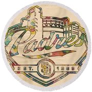 San Diego Padres Memorabilia Round Beach Towel