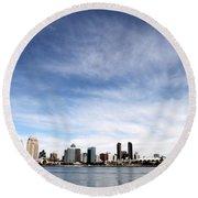 San Diego Skyline Round Beach Towel